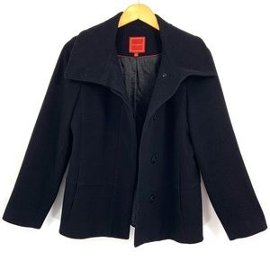COLE HAAN Pea Coat Wool & Cashmere Size 6 Black